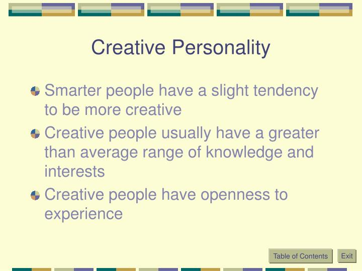 Creative Personality