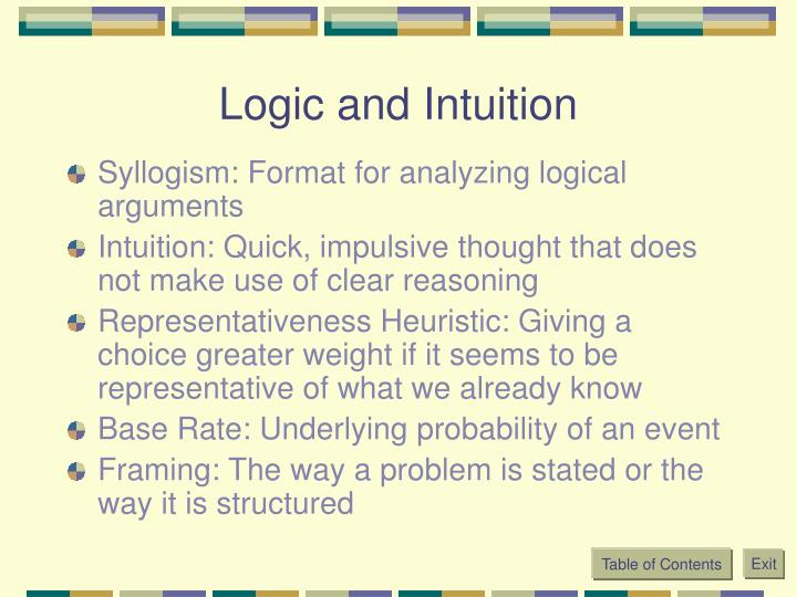 Logic and Intuition