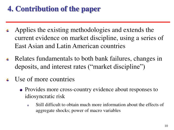 4. Contribution of the paper