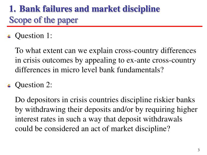 Bank failures and market discipline