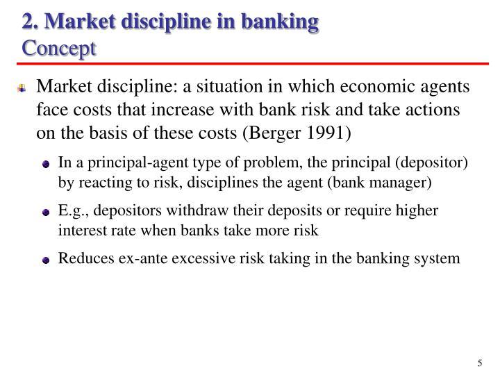 2. Market discipline in banking