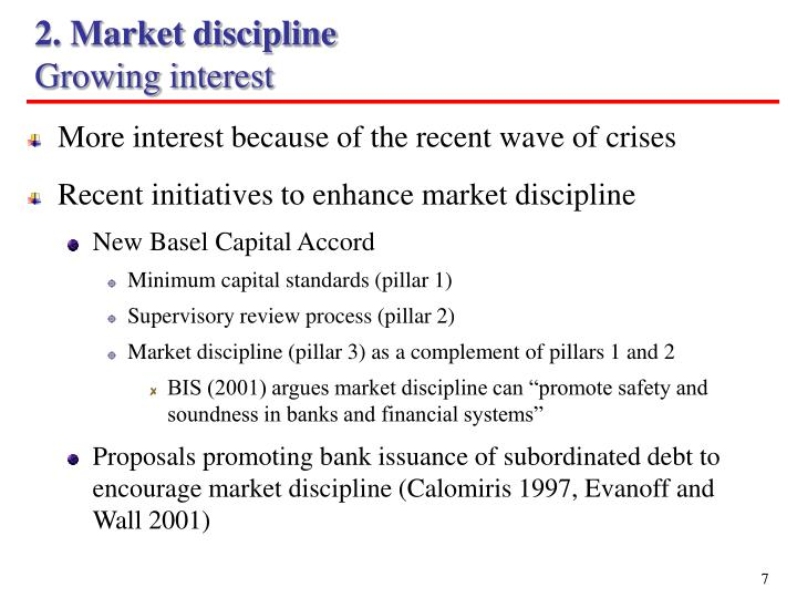 2. Market discipline