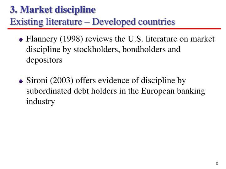 3. Market discipline