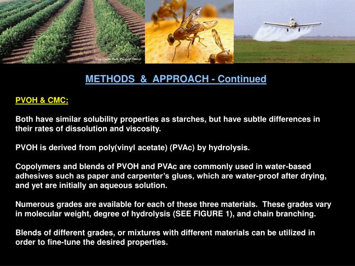 METHODS  &  APPROACH - Continued