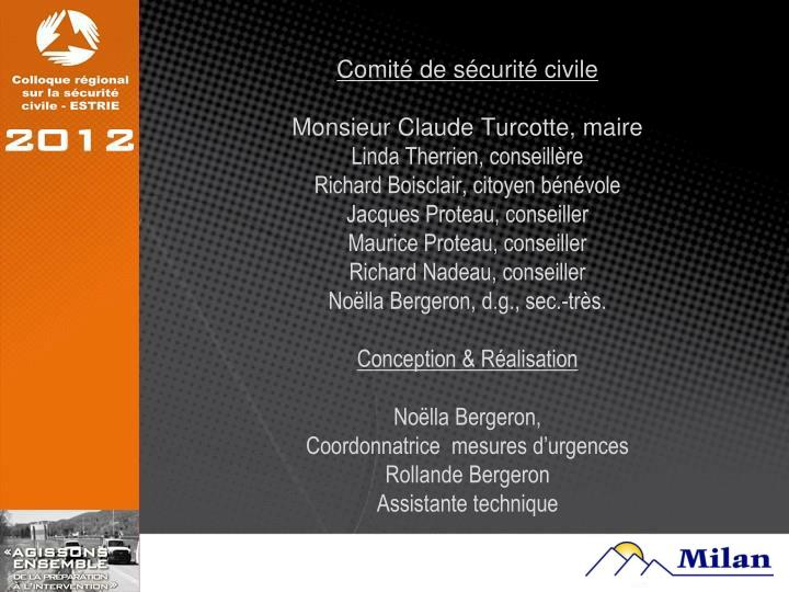 Comité de sécurité civile