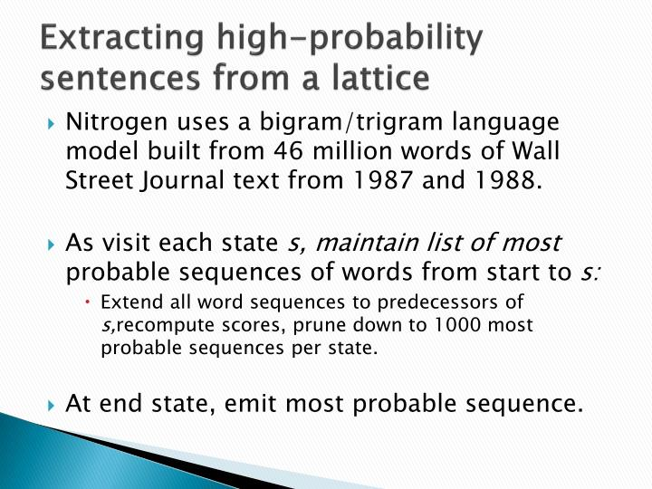 Extracting high-probability