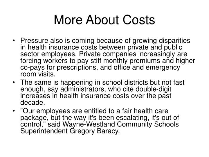 More About Costs