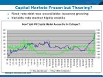 capital markets frozen but thawing