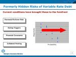 formerly hidden risks of variable rate debt