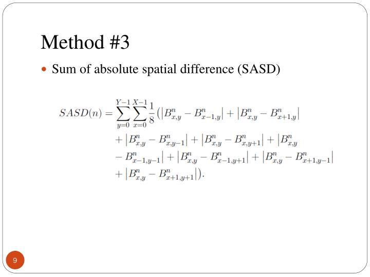 Method #3