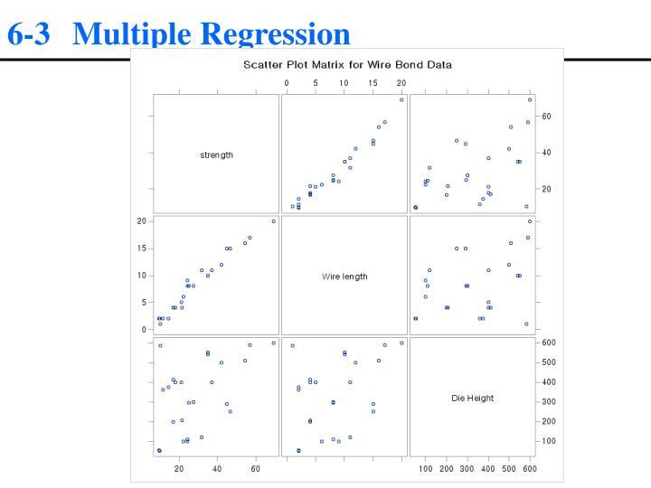 6-3 Multiple Regression