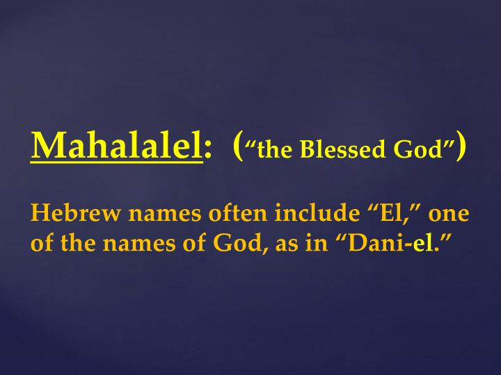 Mahalalel