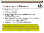 journal article exercise