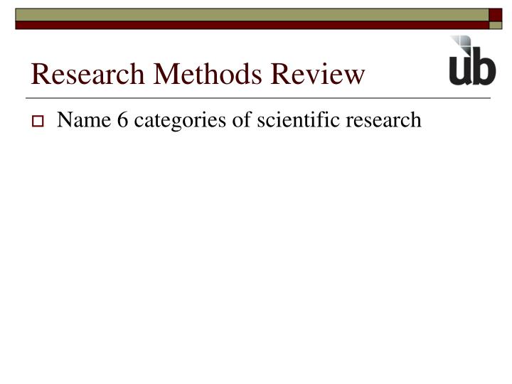 Research Methods Review
