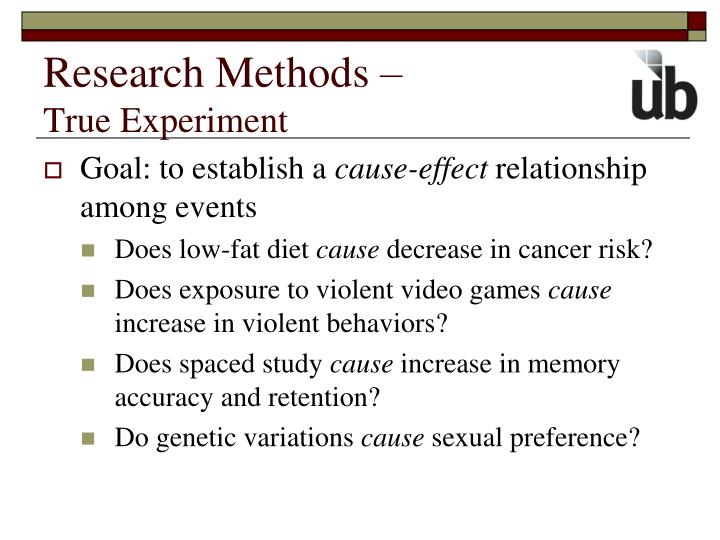 Research Methods –