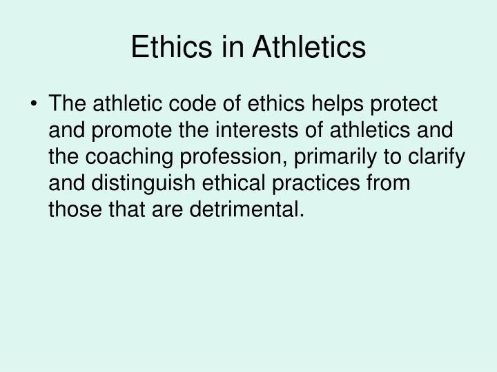 Ethics in Athletics