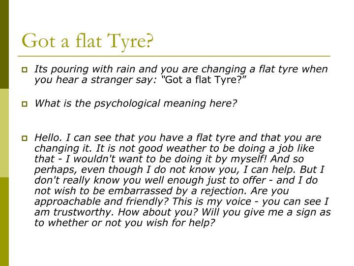 Got a flat Tyre?
