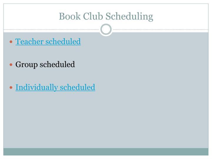 Book Club Scheduling