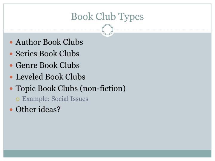 Book Club Types
