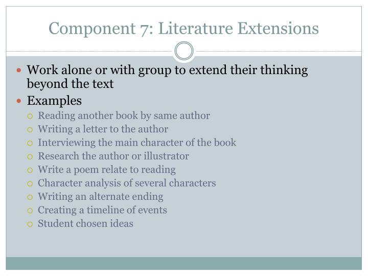 Component 7: Literature Extensions