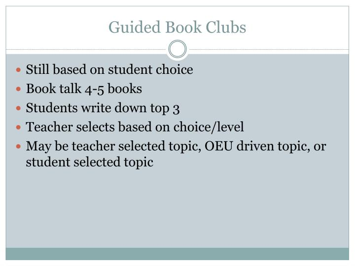 Guided Book Clubs