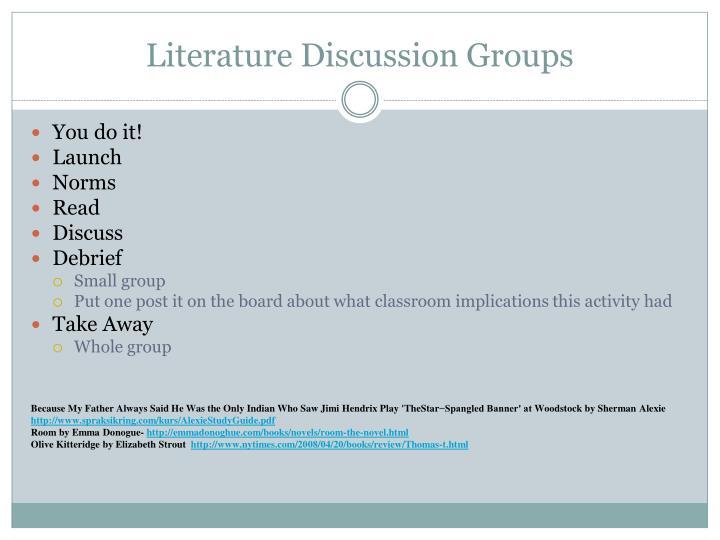 Literature Discussion Groups