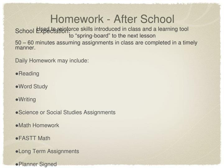 Homework - After School