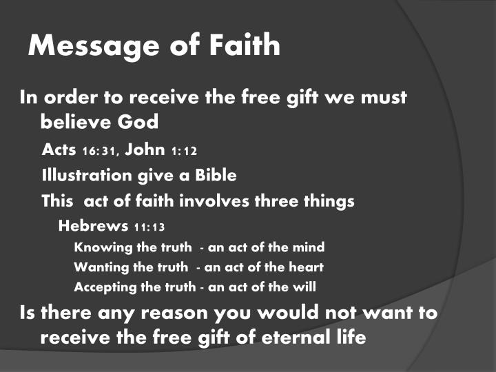 Message of Faith