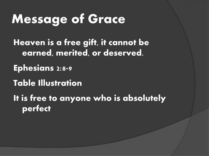 Message of Grace