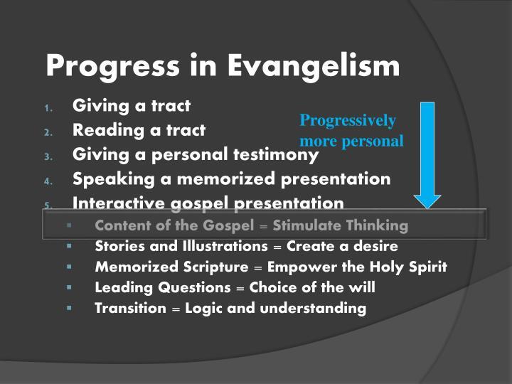 Progress in Evangelism