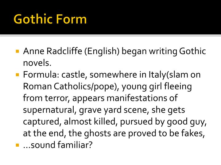 Gothic form