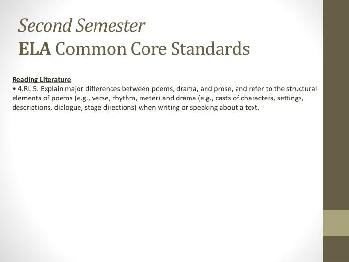second semester ela common core standards