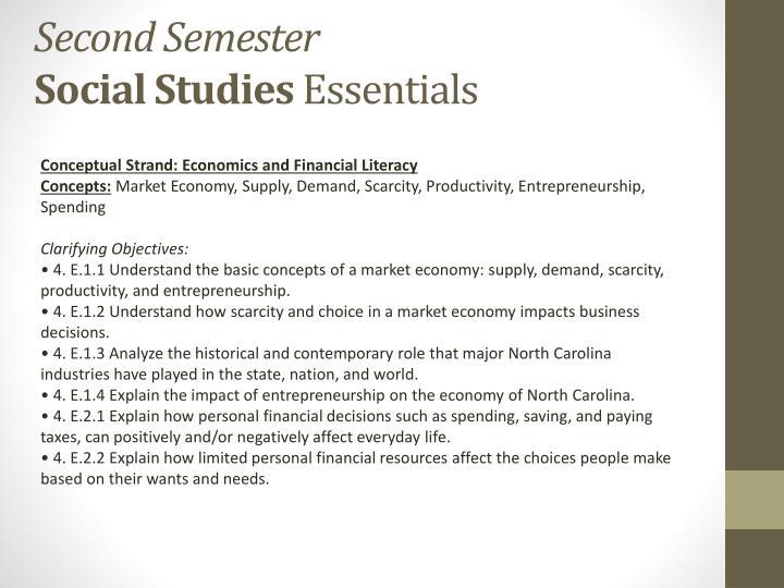 Conceptual Strand: Economics and Financial Literacy