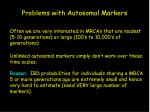 problems with autosomal markers
