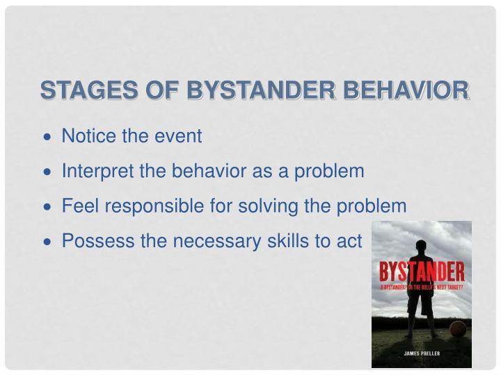 Stages of Bystander Behavior