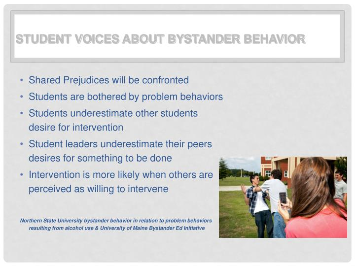 Student Voices about Bystander