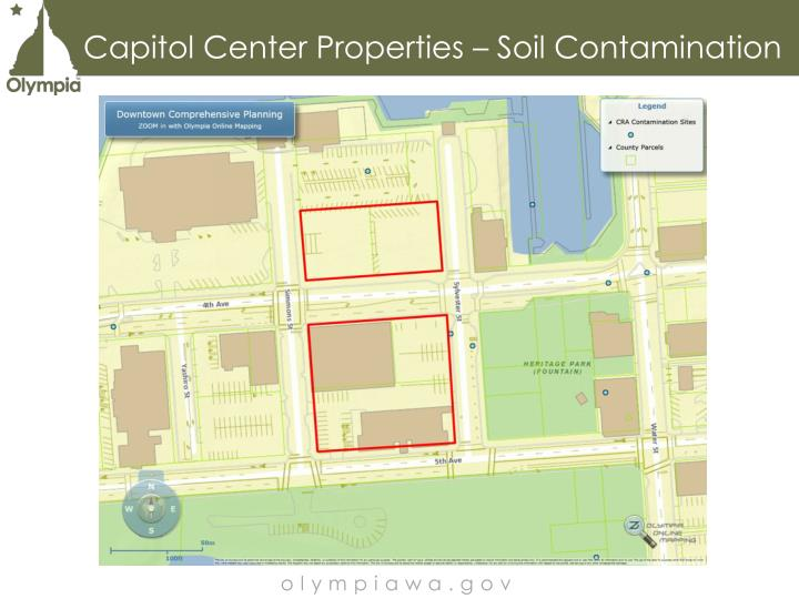 Capitol Center Properties – Soil Contamination