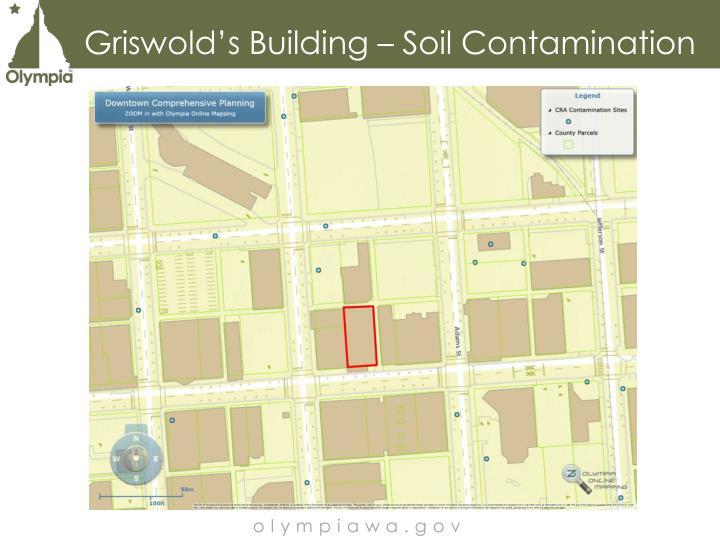 Griswold's Building – Soil Contamination
