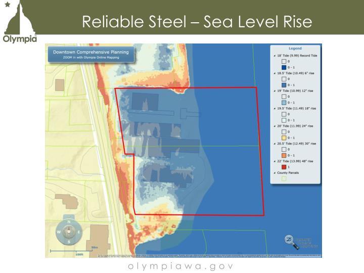 Reliable Steel – Sea Level Rise