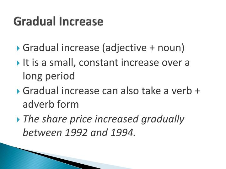 Gradual increase1