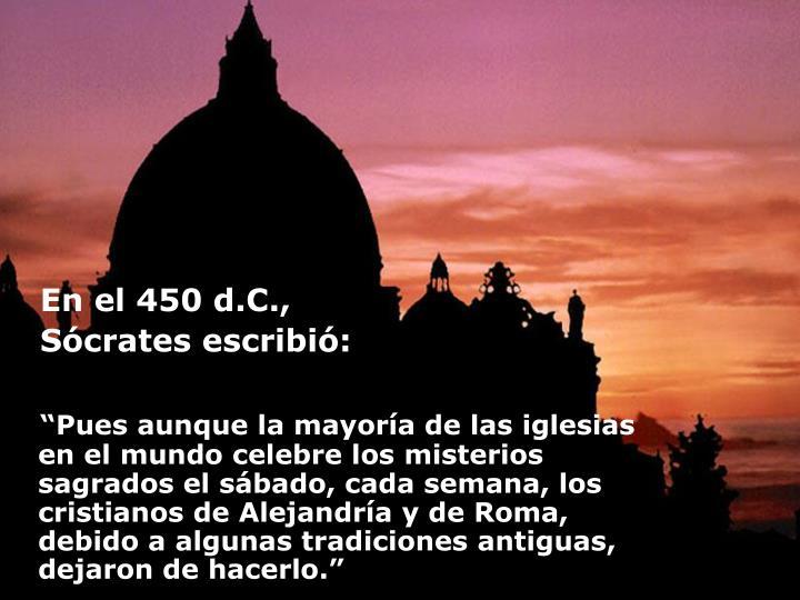 En el 450 d.C.,