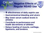 negative effects of regular nsaid use