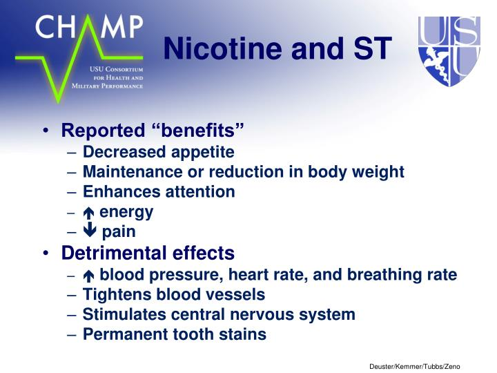 Nicotine and ST