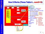 how it works times table 4 num2 10