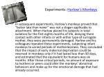 experiments harlow s monkeys