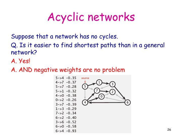 Acyclic networks
