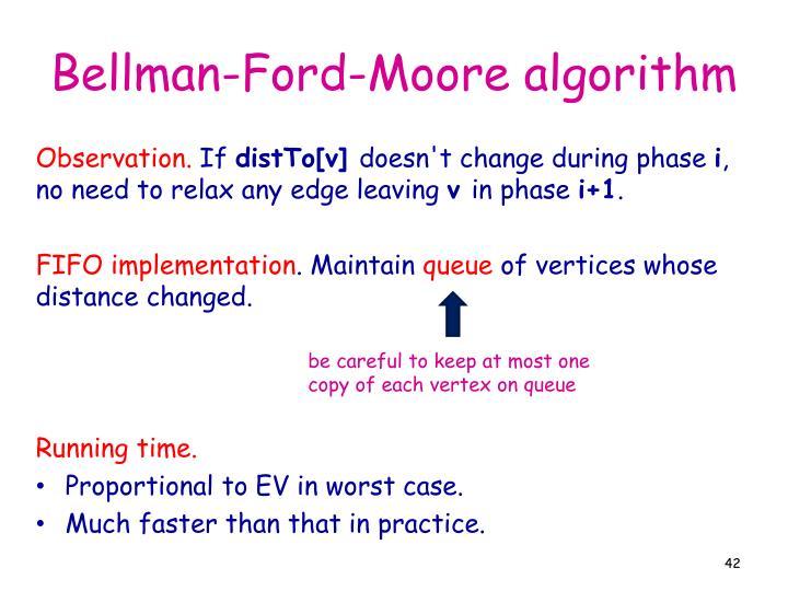 Bellman-Ford-Moore algorithm