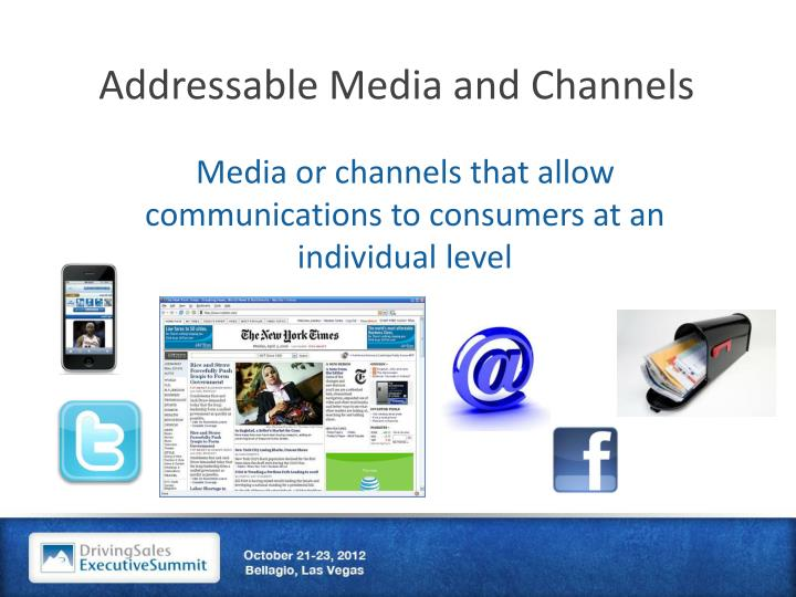 Addressable Media and Channels