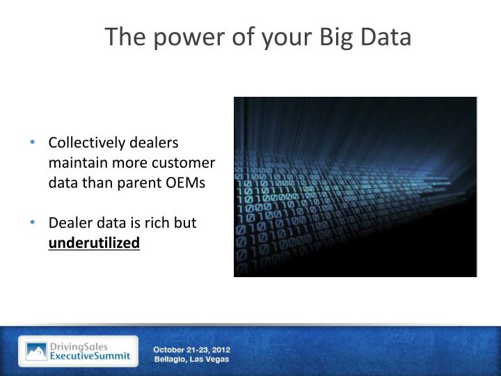 The power of your Big Data