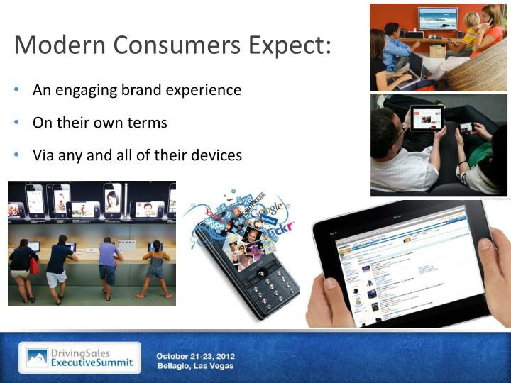 Modern Consumers Expect:
